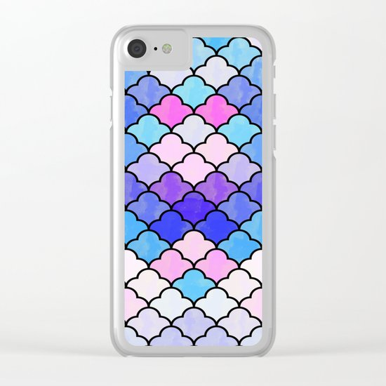 Watercolor Lovely Pattern VVXIII Clear iPhone Case