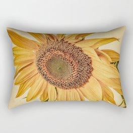 Vintage Sunflower Rectangular Pillow
