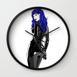 Miss Blue Wall Clock
