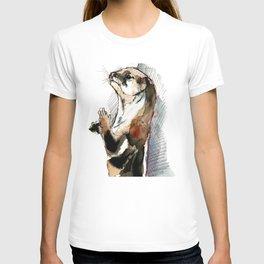Amblonyx cinereus otter T-shirt