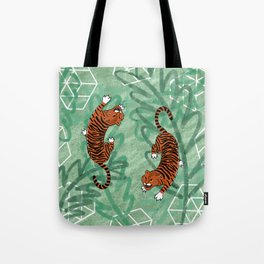 Tiger says: Don't you put me in a cage Tote Bag