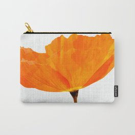 One And Only - Orange Poppy White Background #decor #society6 #buyart Carry-All Pouch