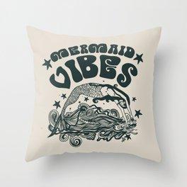 MERMAID VIBES Throw Pillow