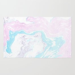 Colorful Waves Marbling Rug