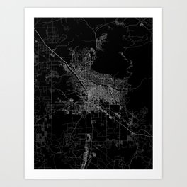 tucson map Art Print