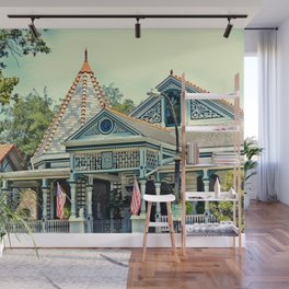 American Victorian House Wall Mural