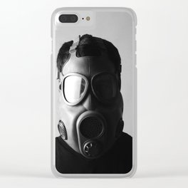 Czech M10M Gasmask Clear iPhone Case