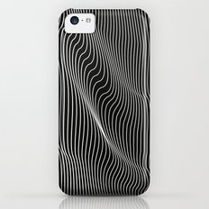 Minimal curves black iPhone 5c Slim Case