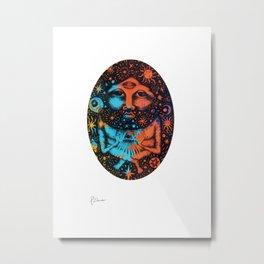 Cosmic Man Screenprint Metal Print