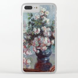 Monet - Chrysanthemums Painting Clear iPhone Case