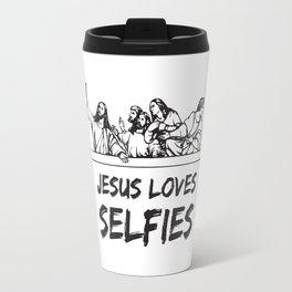 Jesus Loves Selfies –The Last Supper Travel Mug