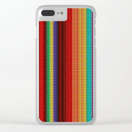 Mexican Poncho Clear iPhone Case