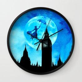 Magical Watercolor Night - Mary Poppins Wall Clock