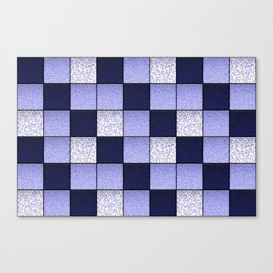 Blue Spotty Tiles Canvas Print