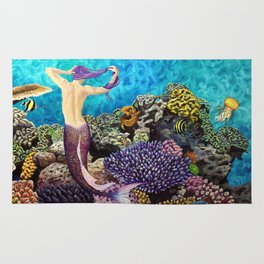 Morning Routine - Mermaid seascape Rug