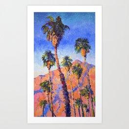 Palm Trees, Palm Springs, Desert Palms Southwestern Landscape Art Print