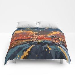 american landscape 7 Comforters