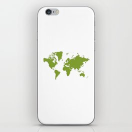 World with no Borders - kelly green iPhone Skin