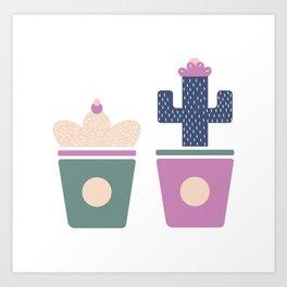 Cactus babies Art Print