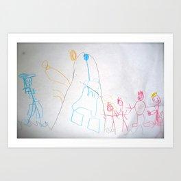 Child Scribbles Art Print
