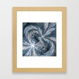 Celestite Waves Framed Art Print