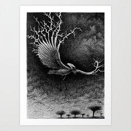 Lightning Bird Art Print