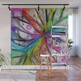 Kaleidoscope Dragonfly Wall Mural