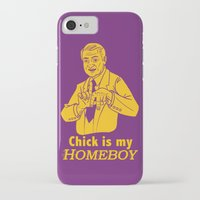 lakers iPhone & iPod Cases featuring Chick is my Homeboy! by GOGILAND