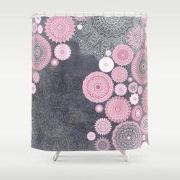 FESTIVAL FLOW   PINK GREY Shower Curtain