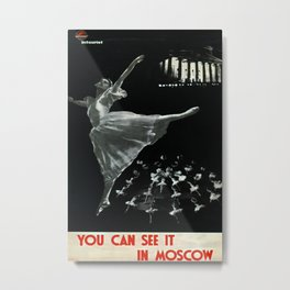 You can see it in Moscow Vintage Travel Poster Metal Print