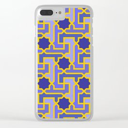 Moroccan pattern Clear iPhone Case