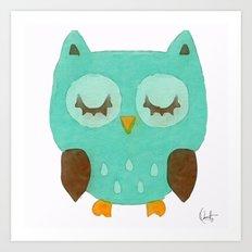 Sleepy Owly Art Print