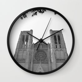 Grace Cathedral Leaf Border Wall Clock