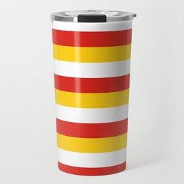 Bhutan dorset flag stripes Travel Mug