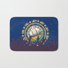 New Hampshire State Flag with Audience Bath Mat