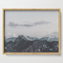 Calm - landscape photography Serving Tray