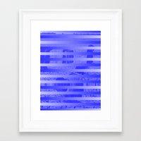 glitch Framed Art Prints featuring Glitch by Claire Balderston