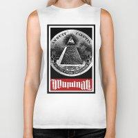 illuminati Biker Tanks featuring Illuminati  by Spyck