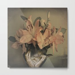The face of fowers Metal Print