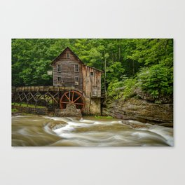 GLADE CREEK GRIST MILL SUMMER PHOTO - WEST VIRGINIA PICTURE - OLD MILL IMAGE - LANDSCAPE PHOTOGRAPHY Canvas Print