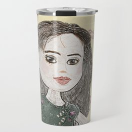 Drawing of a Girl Travel Mug