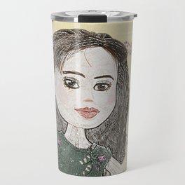 Drawing of a Girl Travel Mug