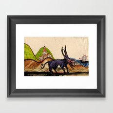 Creature Framed Art Print