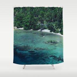 Tahiti White Sand Beach Romantic Getaway Shower Curtain