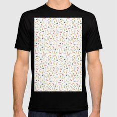 For the love of stationery  Mens Fitted Tee MEDIUM Black