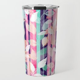 Cute Violet foliage brush paint design Travel Mug