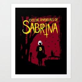 Chilling Adventures Of Sabrina Art Print