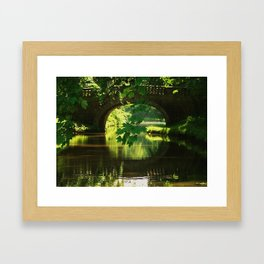 BRIDGE ON THE LANCASTER CANAL Framed Art Print