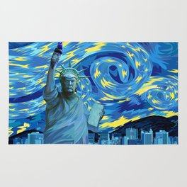 Liberty Parody starry night iPhone 4 5 6 7, ipod, ipad, pillow case and tshirt Rug