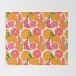 Grapefruit Harvest Throw Blanket